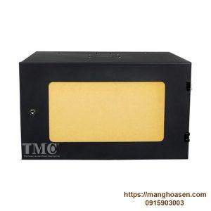 Tủ Rack 6U TMC2-6U Sâu D400, Cửa Mica, Màu Đen