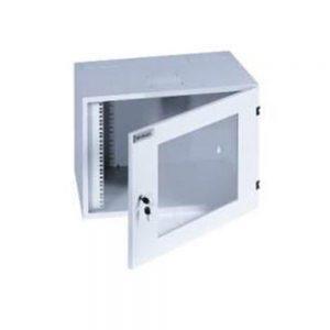 """Tủ 19"""" 12U treo tường-EKOWALL12, 500Dx600Wx640H-Mica-1 cửa-1 quạt"""