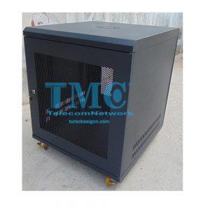 TỦ RACK TMC 10U D500 - ĐEN - LƯỚI - BÁNH XE
